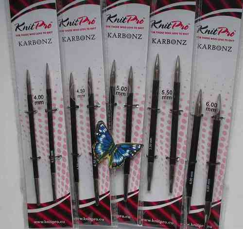 KnitPro KARBONZ Nadelspitzen, normal - 4 mm - 6 mm
